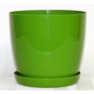 Горшок Магнолия темно зеленый