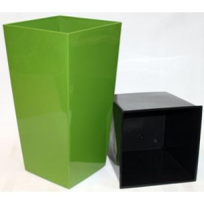Горшок Финезия темно зеленый
